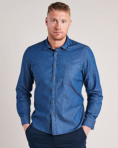 Men's Big and Tall Spring Fashion Trends with Jacomo - Chambray Denim Shirt