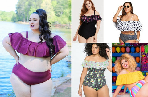 Trending for Summer: The Off the Shoulder Plus Size Swimsuit