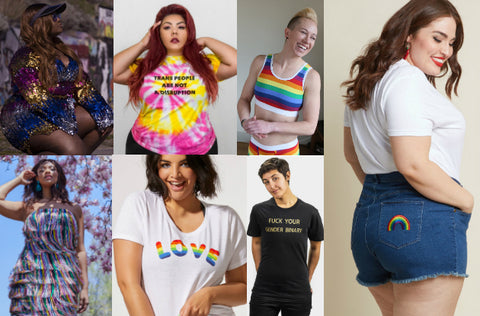 Rainbow Plus Size Clothing and Accessories to Wear to Pride