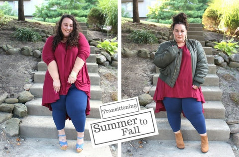 Transitioning Summer Plus Size Fashion for Fall