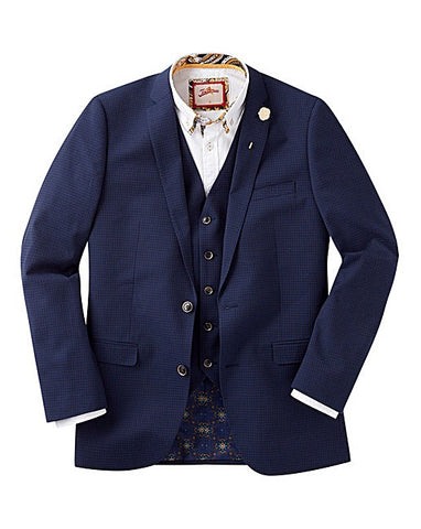 Men's Big and Tall Spring Fashion Trends with Jacomo - Navy Checked Suit