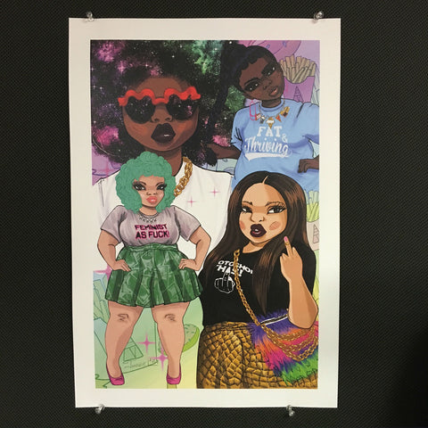"Artist Original Poster Print by Jonquel Norwood: ""Thank You For Staring"""