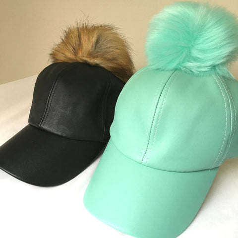 Leatherette Faux Fur Fluff Hat