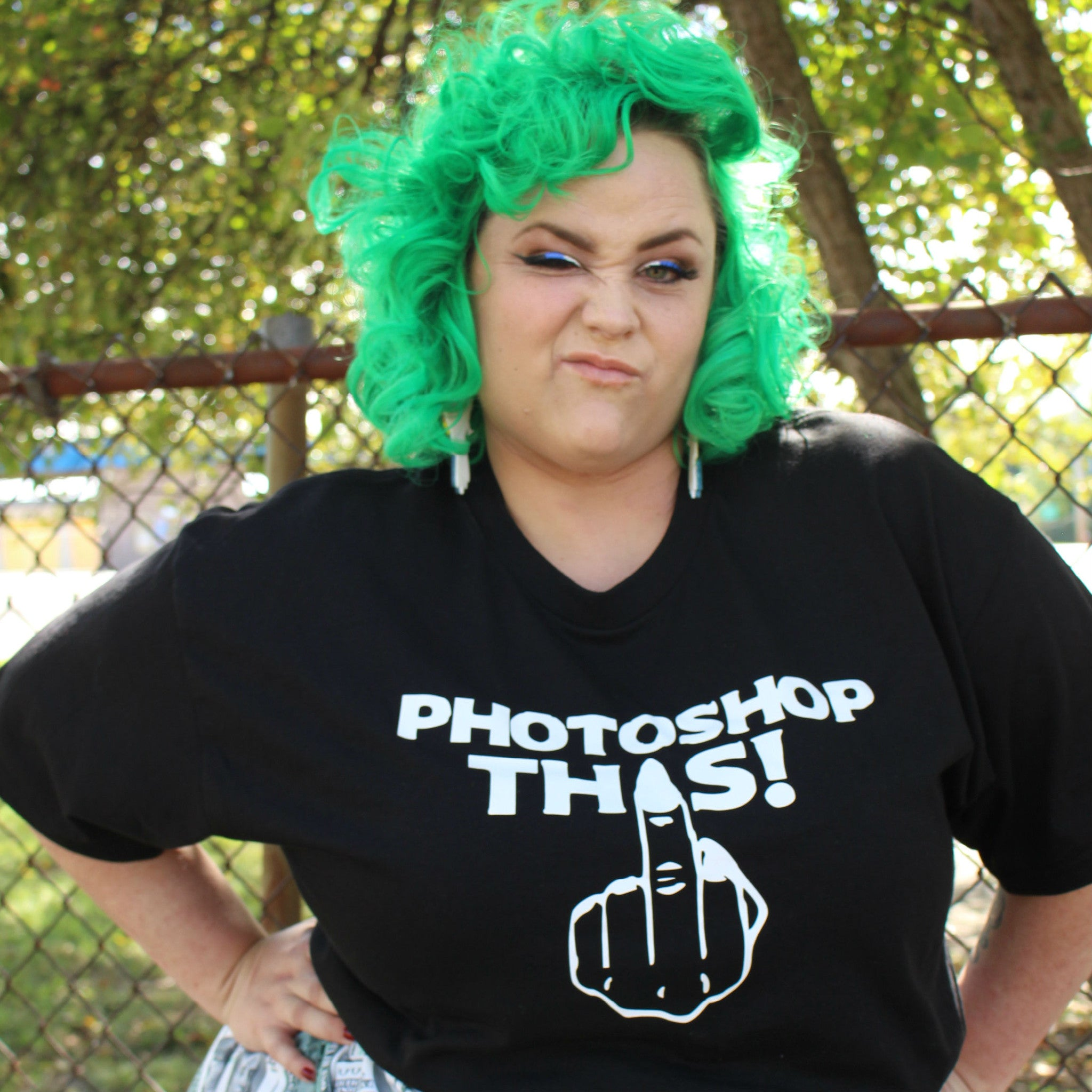 Photoshop This Plus Size T-Shirt: Large Only