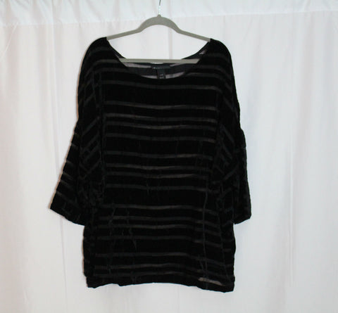 CLOSET SALE: Lane Bryant Velvet Striped Blouse - Size 22/24