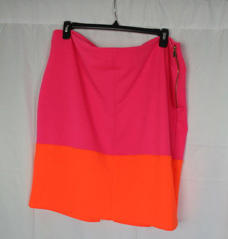 CLOSET SALE: Colorblock Pencil Skirt - Size 20W