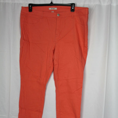 CLOSET SALE: Orange Jeans-Size: 22