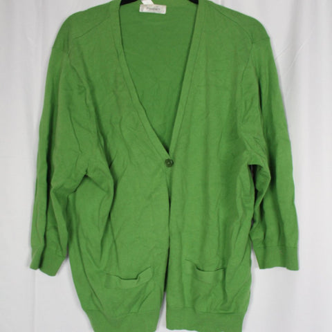 CLOSET SALE: Green Cardigan- Size: 18/20