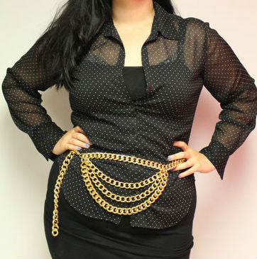 Gold Layered Chain Belt