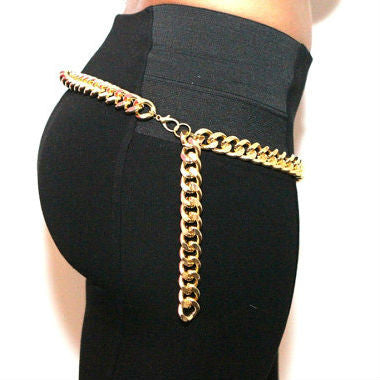 Single Gold Chain Belt