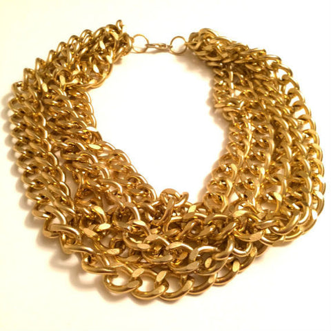 Five Layer Gold Chain Necklace