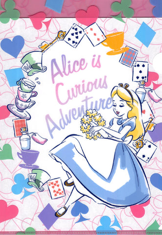 Alice in Wonderland Clear File - Disney Alice is Curious Adventure A4 Clear File (Alice) - Cherden's Doujinshi Shop - 1