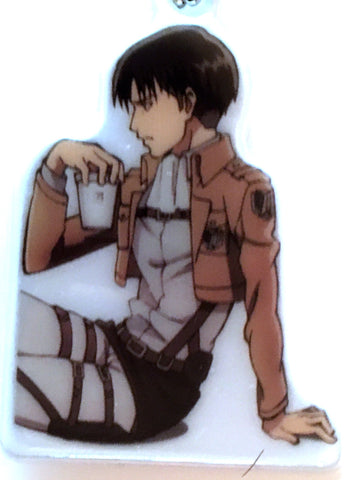 Attack on Titan Keychain - 7-11 Limited Edition Reflector Keychain Levi Sitting (Levi) - Cherden's Doujinshi Shop - 1