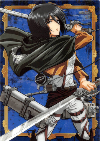 Attack on Titan Pencil Board - Animage October 2013 Edition Bonus B5 Clear Shitajiki: Mikasa Ackerman (Mikasa Ackerman) - Cherden's Doujinshi Shop - 1