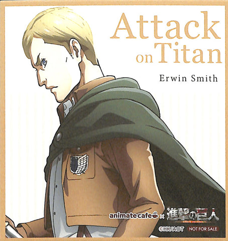Attack on Titan Coaster - Animate Cafe Season 2 Mini Mini Present Card Erwin Smith (Erwin Smith) - Cherden's Doujinshi Shop - 1