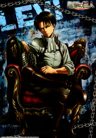 Attack on Titan Clear Plate - Jumbo Carddass Visual Art Bromide 4 Type 8: Levi (Levi) - Cherden's Doujinshi Shop - 1