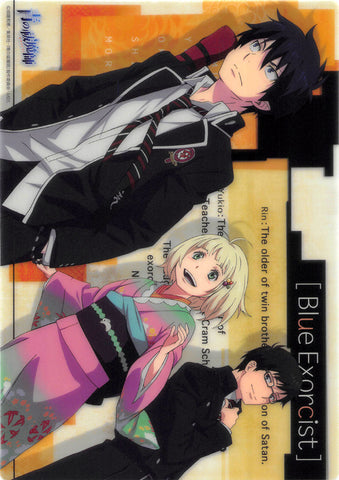 Blue Exorcist Pencil Board - Movic B5 Clear Shitajiki B: Rin Yukio Shiemi (Rin Okumura) - Cherden's Doujinshi Shop - 1
