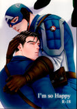 Captain America Doujinshi - I'm so Happy (Bucky x Steve) - Cherden's Doujinshi Shop - 1