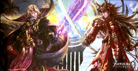 Fire Emblem 0 (Cipher) Playmat - Older Brothers Version CM91 Exclusive Playmat: Ryoma Vs Xander (Xander) - Cherden's Doujinshi Shop - 1
