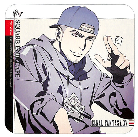 Final Fantasy 15 Coaster - Square Enix Cafe Vol 4 Drink Promo Coaster Gladiolus Amicitia (Gladiolus) - Cherden's Doujinshi Shop - 1