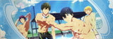 Free!  Iwatobi Swim Club Trading Stick Poster - Group 1:  At The Pool (Rin Makoto Haruka and Nagisa) - Cherden's Doujinshi Shop  - 2