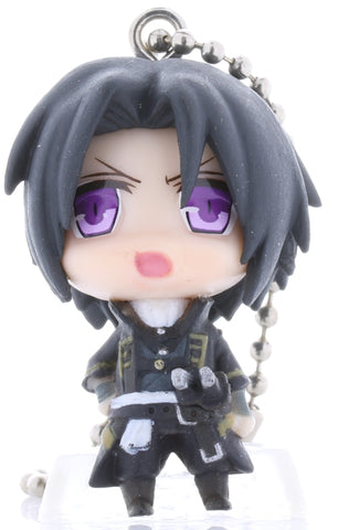 Hakuoki:  Demon of the Fleeting Blossom Keychain - Deformed Mini Figure Series Chibi Character Mascot: Toshizo Hijikata (Toshizo Hijikata) - Cherden's Doujinshi Shop - 1