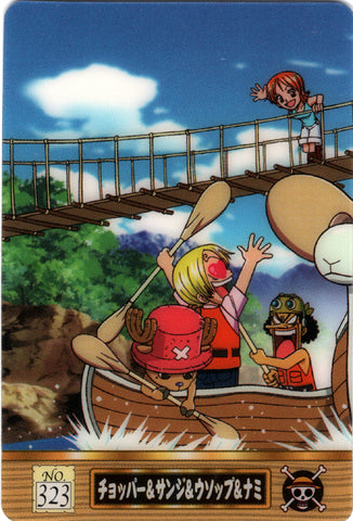 One Piece Trading Card - No.323 Normal King of Pirates Gummy Card Part 3 (Defying Justice Edition) Chopper & Sanji & Usopp & Nami (Chopper) - Cherden's Doujinshi Shop - 1