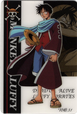 One Piece Trading Card - King of Pirates Gummy Card 2: No. 31 Monkey. D. Luffy Bandai (Luffy) - Cherden's Doujinshi Shop - 1