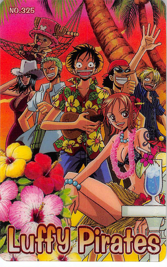 One Piece Trading Card - King of Pirates Gummy Card Part 3 (Defying Justice Edition):  325 Luffy Pirates Bandai (Luffy) - Cherden's Doujinshi Shop - 1