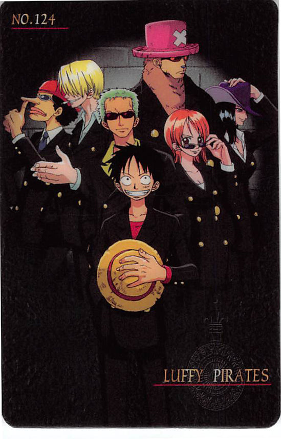 One Piece Trading Card - New King of Pirates Gumi Part 3: No. 124 Luffy Pirates Bandai (Luffy) - Cherden's Doujinshi Shop - 1
