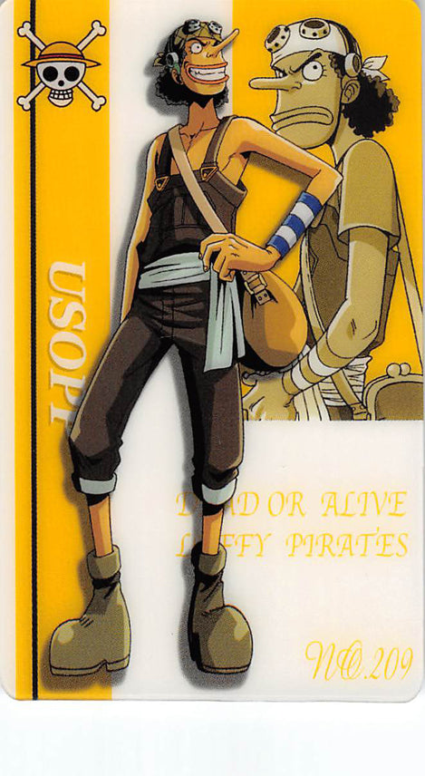 One Piece Trading Card - New King of Pirates Gumi Part 7: No. 209 Usopp Bandai (Usopp) - Cherden's Doujinshi Shop - 1