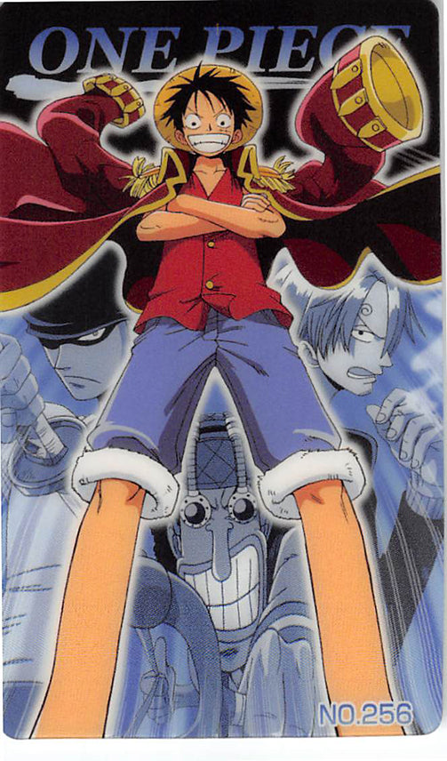 One Piece Trading Card - New King of Pirates Gumi Part 9: No. 256 One Piece Bandai (Luffy) - Cherden's Doujinshi Shop - 1