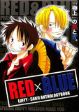 One Piece Doujinshi - RED x BLUE (Luffy x Sanji) - Cherden's Doujinshi Shop - 1