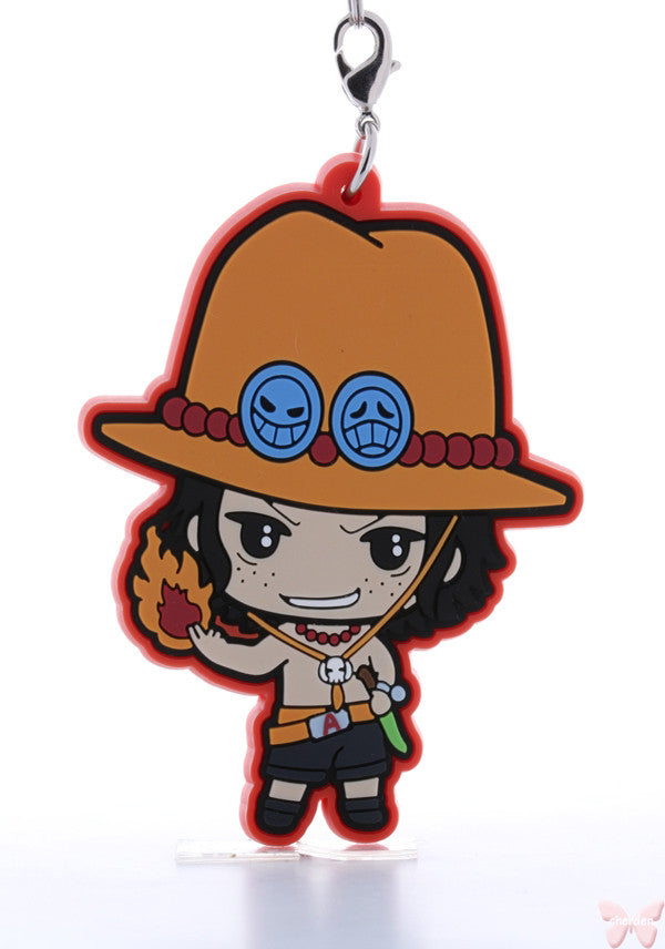 One Piece Strap - Tokyo One Piece Tower Rubber Strap: Ace (Ace) - Cherden's Doujinshi Shop  - 1