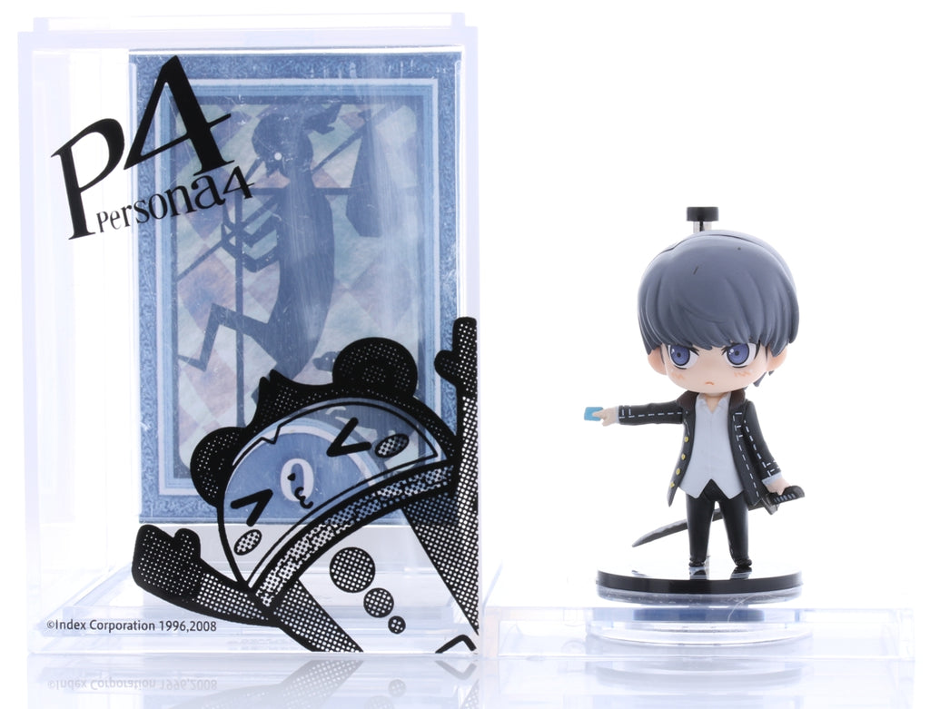 Persona 4 Figurine - One Coin Grande Collection Yu Narukami with the Fool Tarot Card and My Case (Happy Version) (Animate Limited Edition Box Promo) (Yu Narukami) - Cherden's Doujinshi Shop - 1