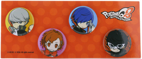 Persona Q2: New Cinema Labyrinth Pin - Persona Q2: New Cinema of the Labyrinth Showtime Premium Edition Promo 4 Can Badge Set (Yu Narukami) - Cherden's Doujinshi Shop - 1