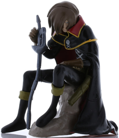 Space Pirate Captain Harlock Figurine - HG Captain Harlock Gaiden Gashapon: Captain Harlock (Captain Harlock) - Cherden's Doujinshi Shop - 1