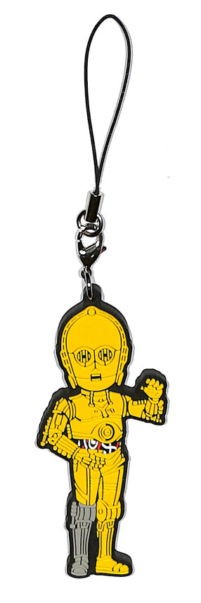 Star Wars Strap - Ichiban Kuji World Collectible Figure J Prize: C-3PO Rubber Strap (C-3PO) - Cherden's Doujinshi Shop - 1