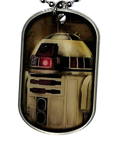 Star Wars Dog Tag - Star Wars The Force Awakens 2015 topps Dog Tag: 9 of 16 R2-D2 (R2-D2) - Cherden's Doujinshi Shop - 1