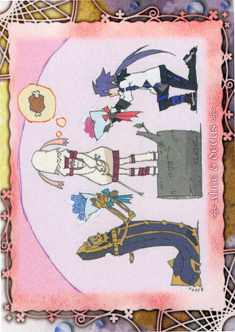 Tales of Symphonia 2 Trading Card - Frontier Works Knight of Ratatosk Trading Card Ending Card No.36 (Decus x Alice) - Cherden's Doujinshi Shop - 1
