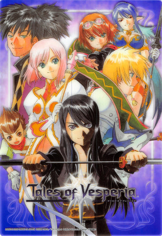 Tales of Vesperia Clear Plate - Tales of Vesperia Jumbo Carddass Ex Clear Plate Collection #9 Yuri Flynn Estelle Raven Rita Judith and Karol (Yuri) - Cherden's Doujinshi Shop - 1