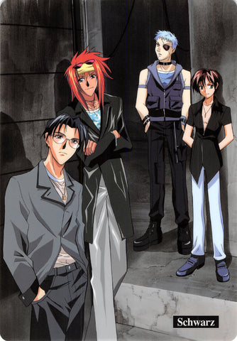 Weiss Kreuz Pencil Board - Movic B5 Shitajiki Schwarz Brad Schuldig Farfarello & Nagi (Brad Crawford) - Cherden's Doujinshi Shop - 1