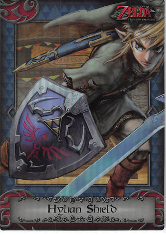 Legend of Zelda Trading Card - 98 Parallel Silver Enterplay 2016 (FOIL) Hylian Shield (Twilight Princess) (Hylian Shield) - Cherden's Doujinshi Shop - 1