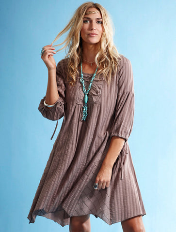 organic cotton floaty tunic cappucinno
