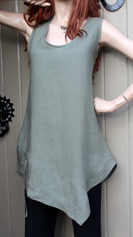 0dc98d98fd106 EVA TRALALA Long Sleeveless Ladies Linen Tunic VERO (was £59.99 ...