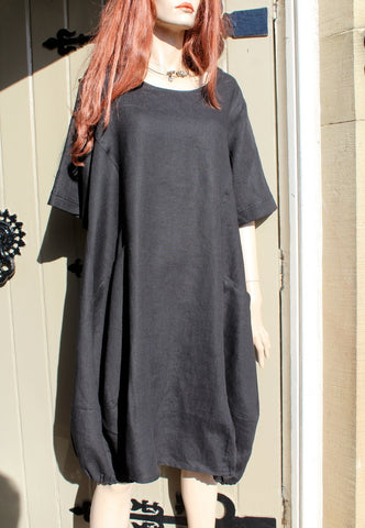 EVA TRALALA Mid-Sleeved Ladies Linen Dress ARIDE (was £110)