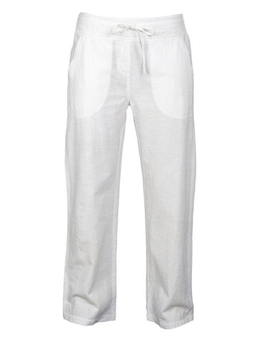 cotton drawstring trousers white