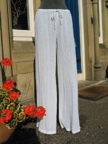 crinkle cotton trousers