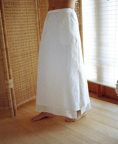 vivi double linen skirt