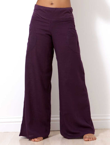 womens flared leg cotton trouser